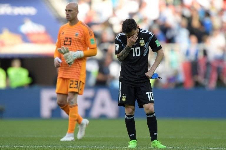 Messi nuevamente vivió un día gris con Argentina
