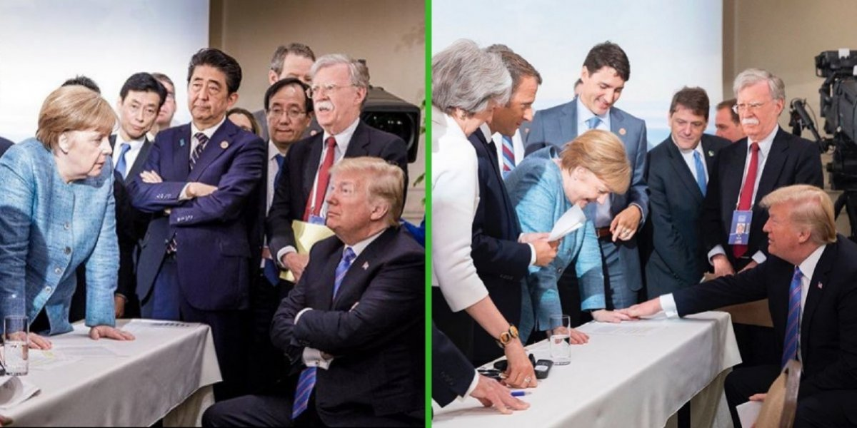 """Donald Trump revela """"su verdad"""" de la polémica foto con Angela Merkel"""
