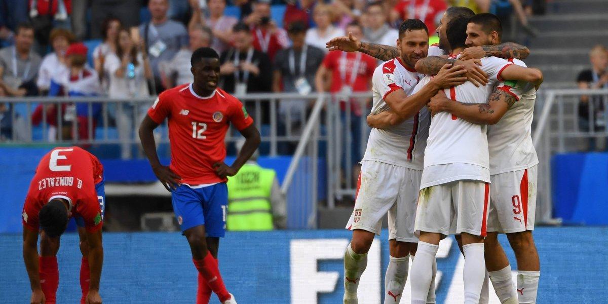 Las derrotas de Costa Rica en su primer juego en una Copa del Mundo