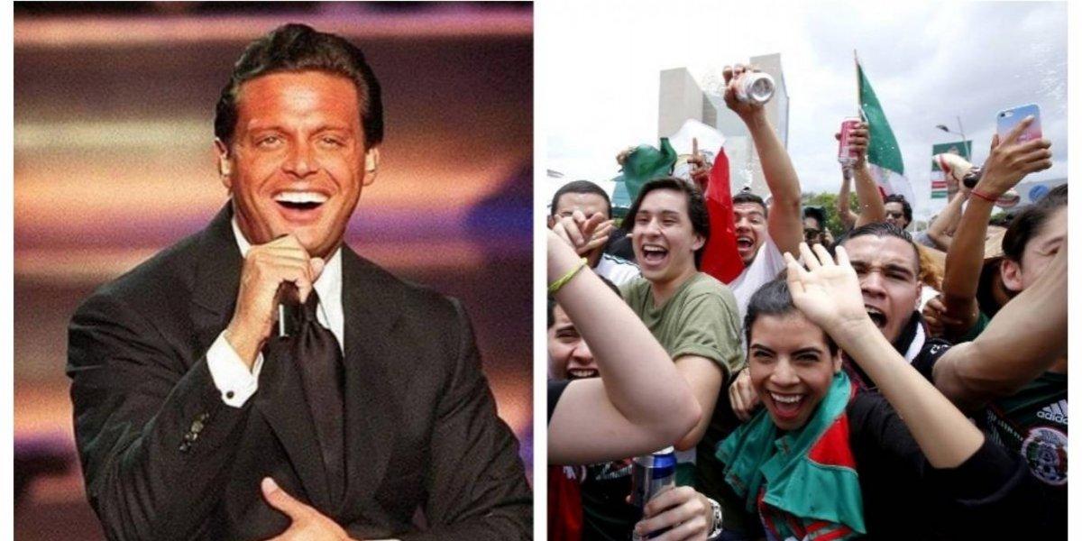 """VIDEO. Aficionados mexicanos """"llevan"""" a Luis Miguel al Mundial de Rusia"""
