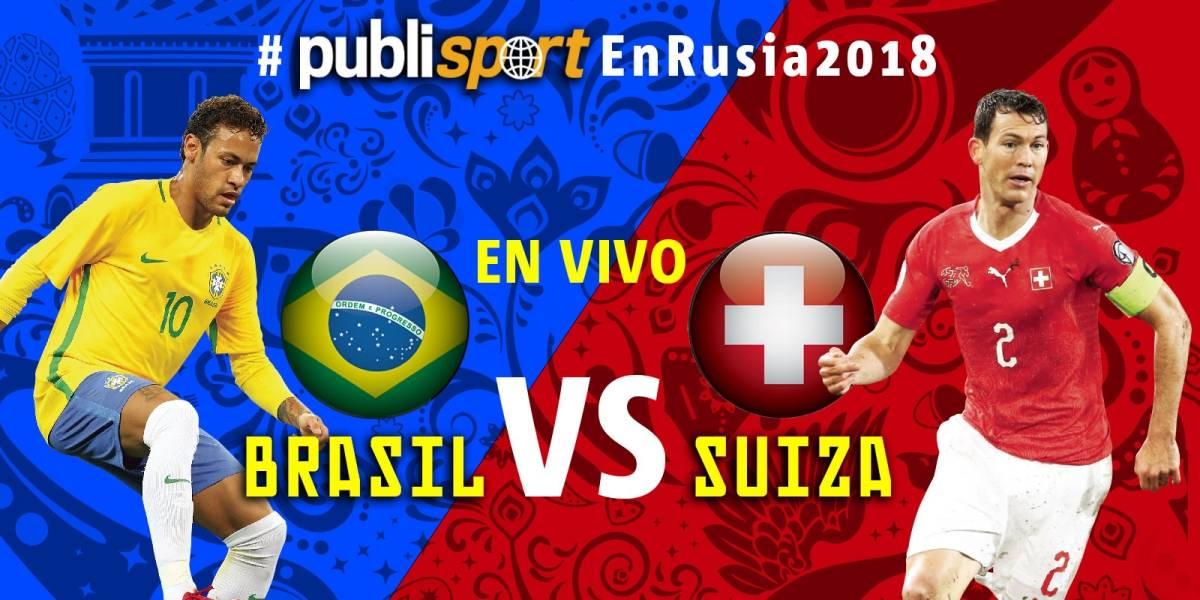 Brasil empata 1-1 ante Suiza