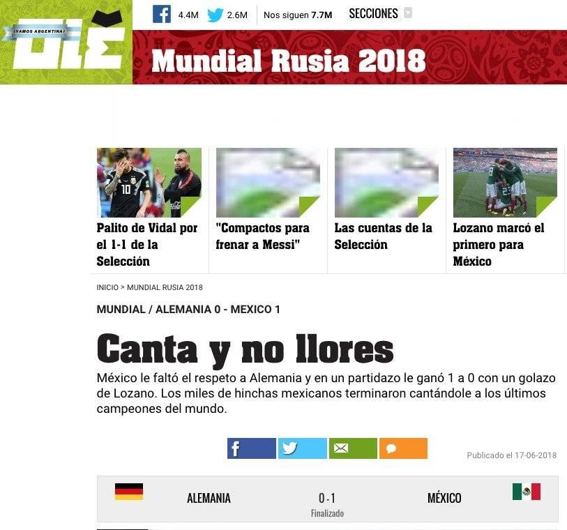 Medio argentino Olé