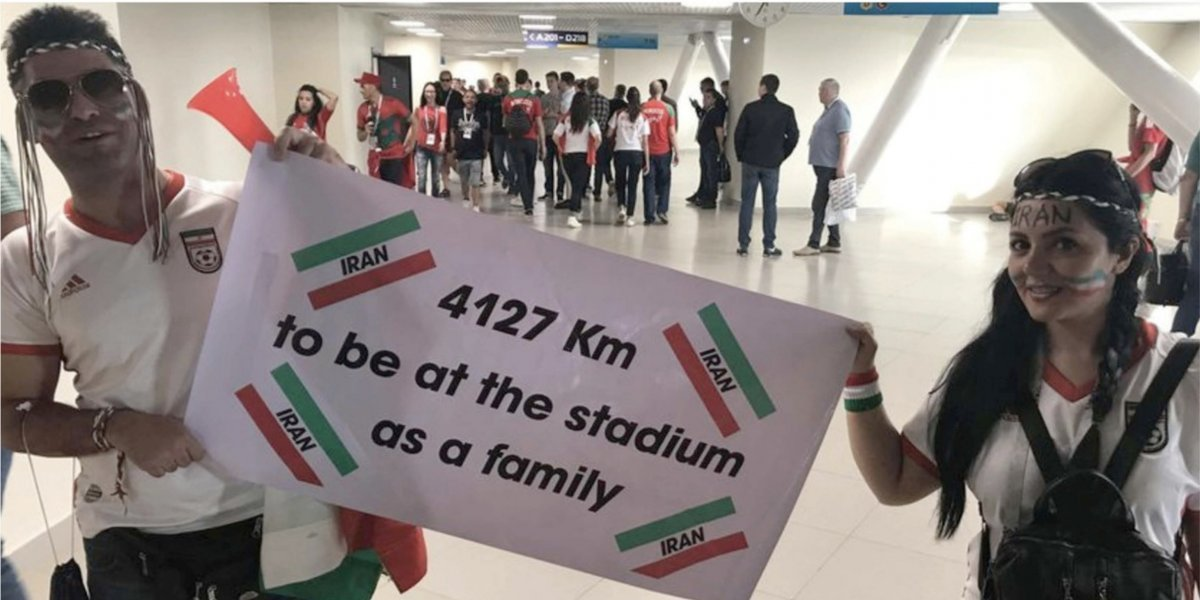 En Irán la mujeres no pueden entrar al estadio pero en Rusia sí