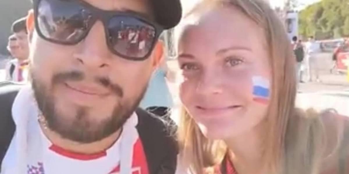 Rusia 2018: Hincha peruano acosa a rusas y se viraliza