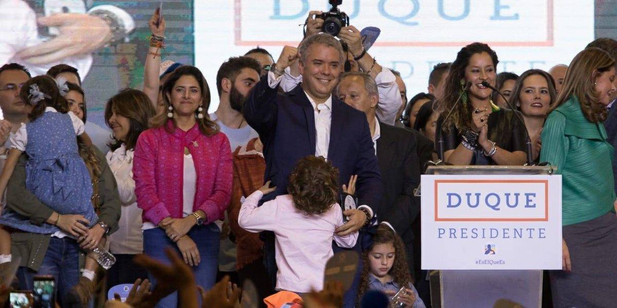 Iván Duque es elegido presidente con histórico resultado de votos