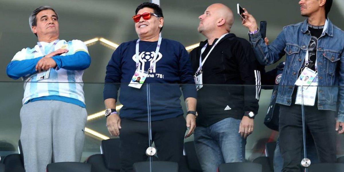 Maradona alabó el trabajo del 'Chucky', Guardado y Ochoa en victoria sobre Alemania