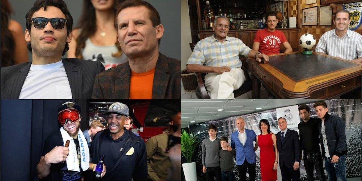 Hijos que siguieron los pasos deportivos de sus famosos padres