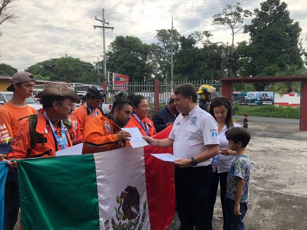 Escobar fue quien despidió a los Topos de México. Foto: Cortesía