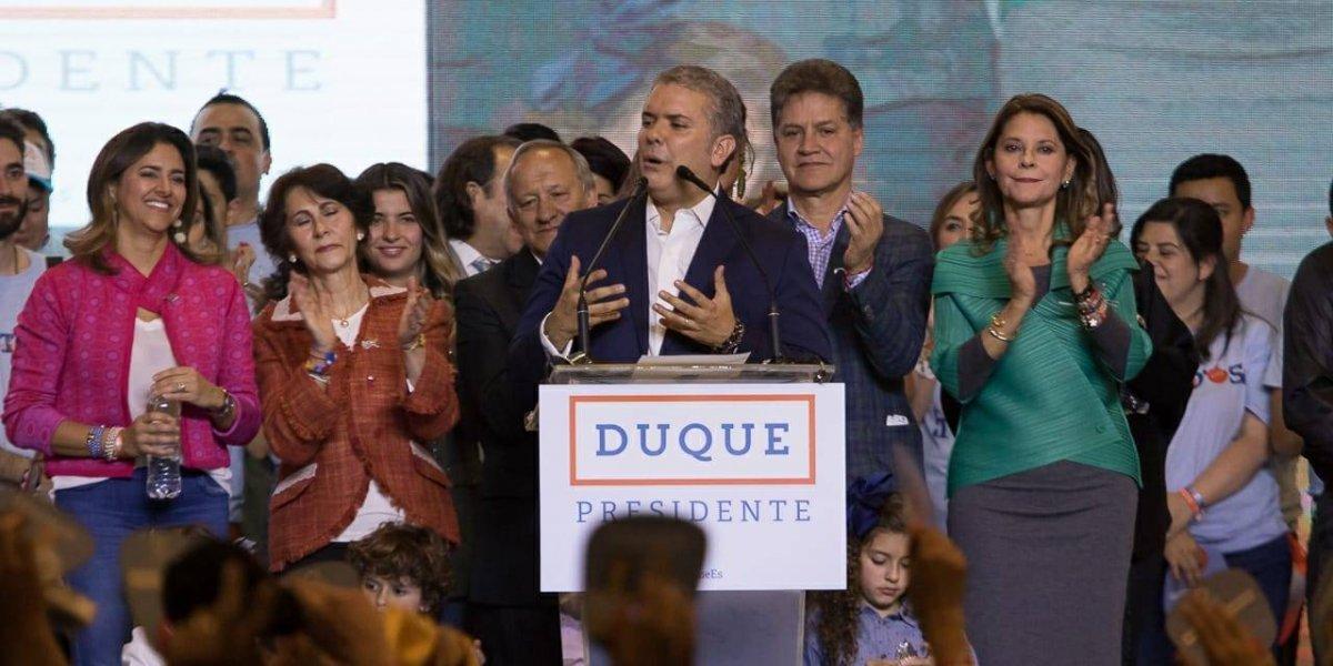 """""""Quiero decirle al pueblo colombiano que voy a entregar todas mis energías por unir a nuestro país"""": Iván Duque"""