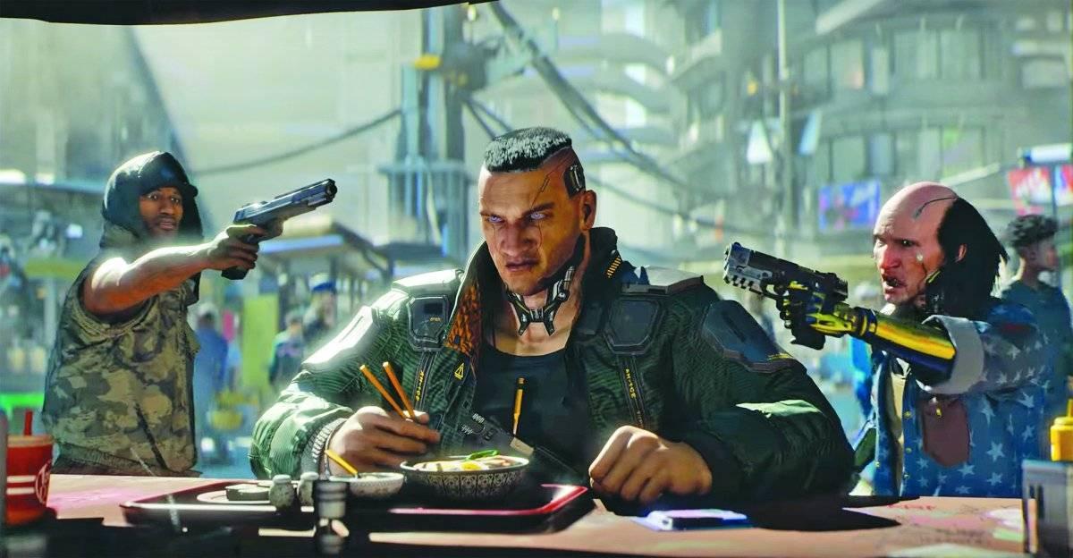 """'Cyberpunk 2077'. O novo título da produtora polonesa CD Projekt Red, responsável pelo elogiado """"The Witcher 3"""", roubou todos os holofotes da E3 com a apresentação do primeiro trailer do game inspirado no RPG de mesa """"Cyberpunk 2020"""". Ainda sem data de lançamento anunciada, o jogo promete visuais futuristas de cair o queixo e roteiro caprichado / Reprodução"""