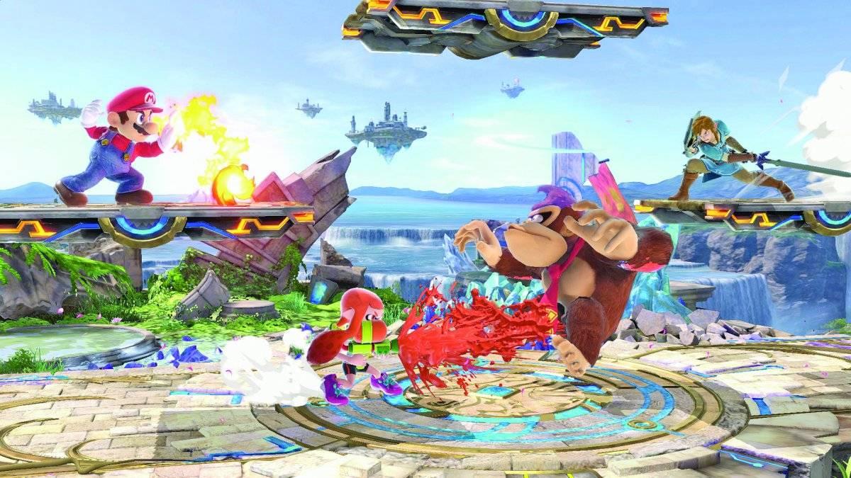 """'Super Smash Bros Ultimate'. Mario e companhia seduziram mais uma vez os jornalistas com uma nova edição do game que coloca os adoráveis personagens da Nintendo para lutarem entre si. O jogo promete horas infinitas de diversão com 65 personagens combatendo em 75 cenários, oferecendo todas as ferramentas de todos os títulos já lançados da franquia """"Smash"""" em um só lugar – mas agora para o console Switch. O lançamento será em 7 de dezembro / Reprodução"""