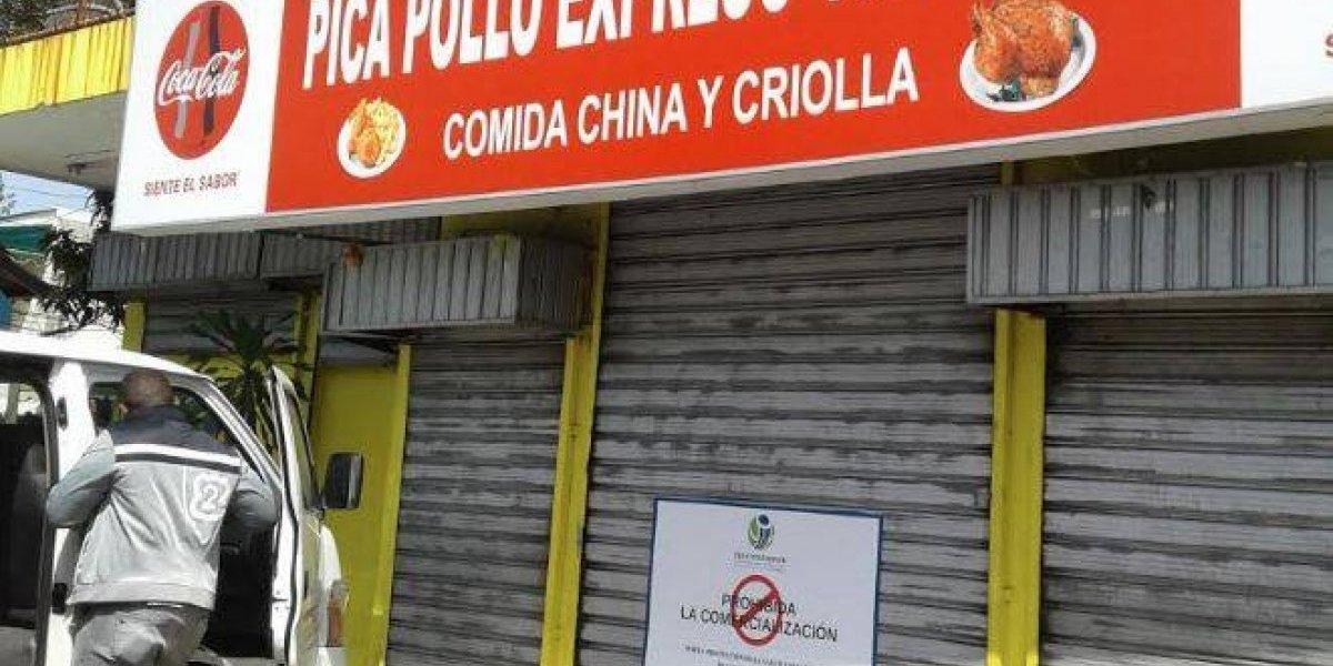 Pro Consumidor cierra tres restaurantes de comida china por falta de higiene