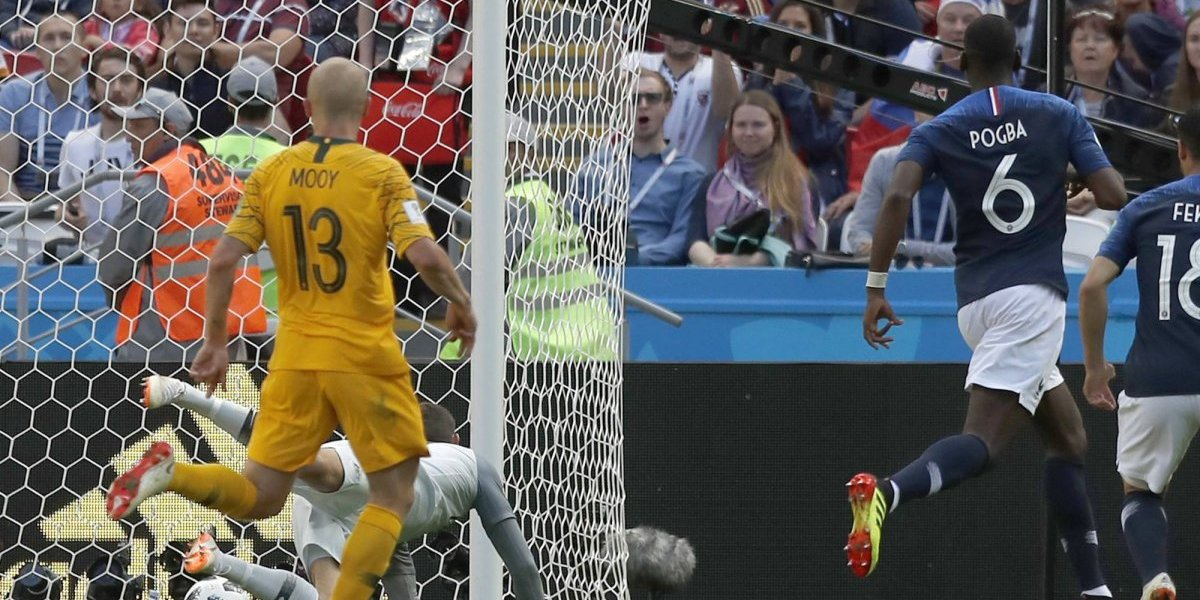 Se quedó sin nada: la FIFA le quitó el gol a Paul Pogba del partido ante Australia