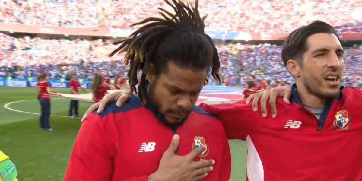 Las lágrimas de Román Torres con el himno de Panamá