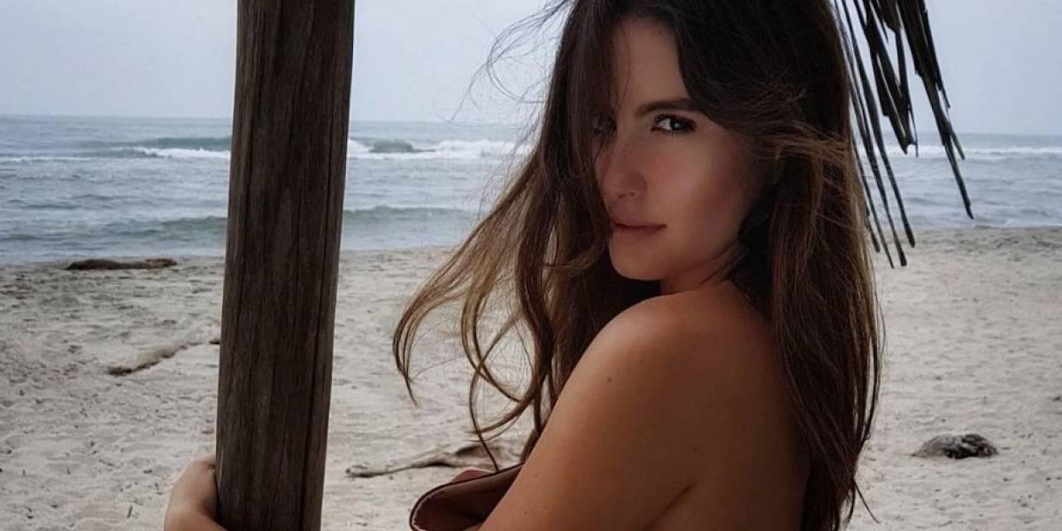 Ritual de Taliana Vargas con su hija en el mar generó polémica en redes