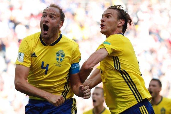 Gol de Suecia contra Corea Del Sur