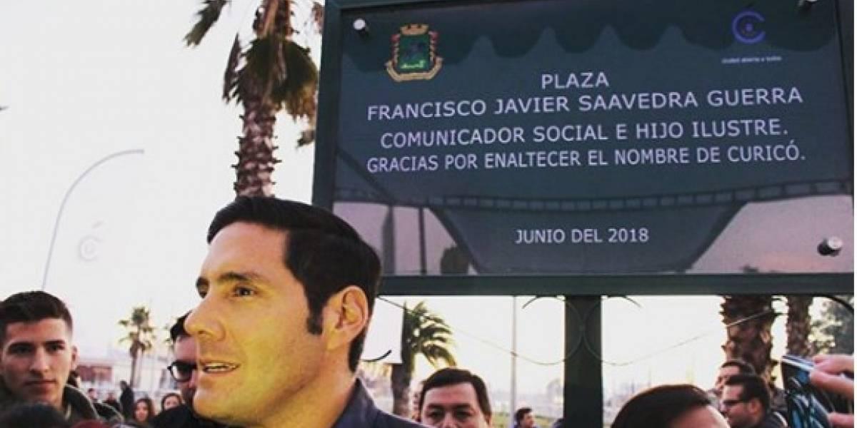 Francisco Saavedra se emocionó y envió sentido mensaje al conocer la plaza que lleva su nombre en Curicó