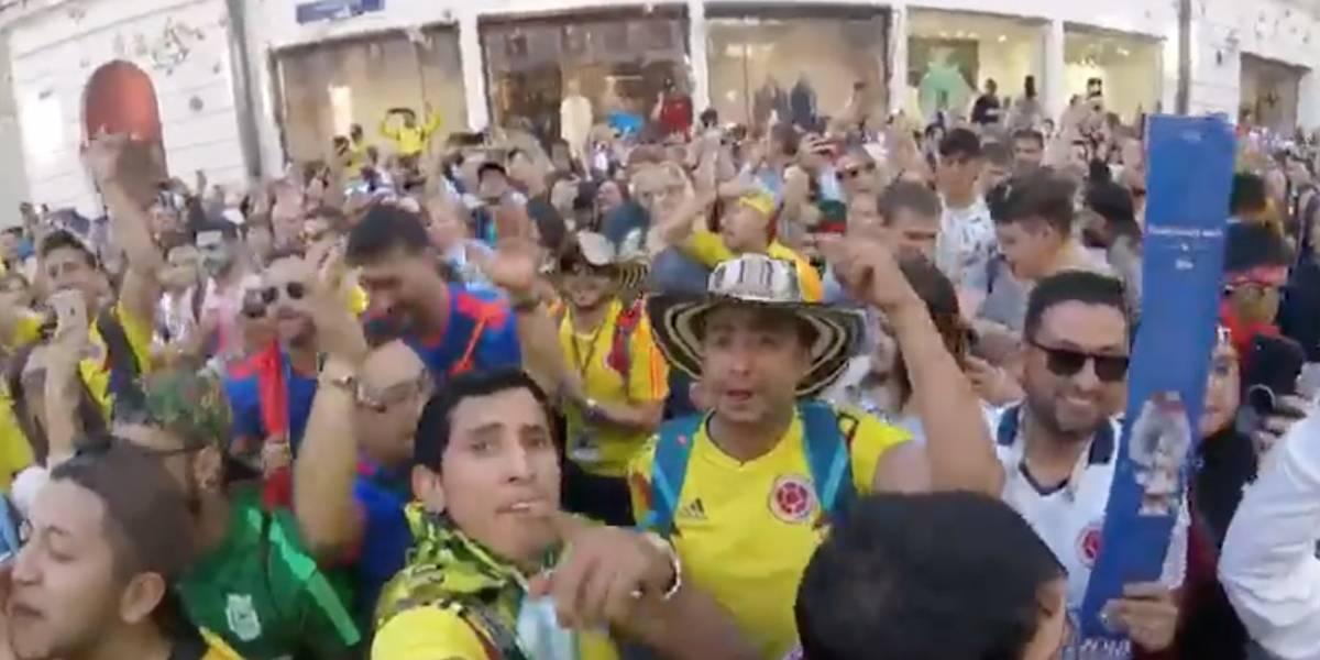 Rusia 2018: La cumbia prende la fiesta previo al partido Colombia vs Inglaterra por los octavos de final