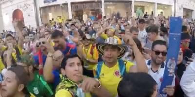Mundial: Colombianos celebran con cumbia en las calles de Rusia