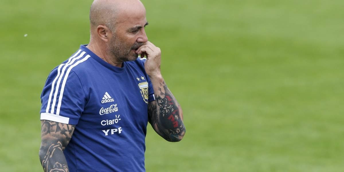 Jorge Sampaoli no supo que cambiaron el horario del entrenamiento de Argentina