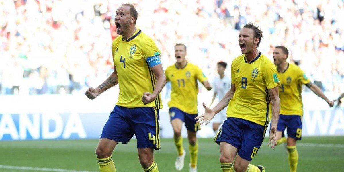 Suecia gana y complica aún más a Alemania en Rusia 2018