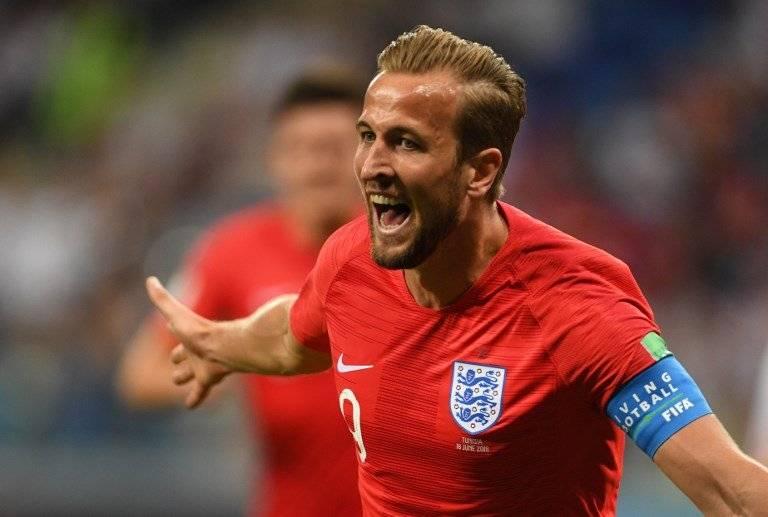 Kane celebra su primer tanto en el Mundial