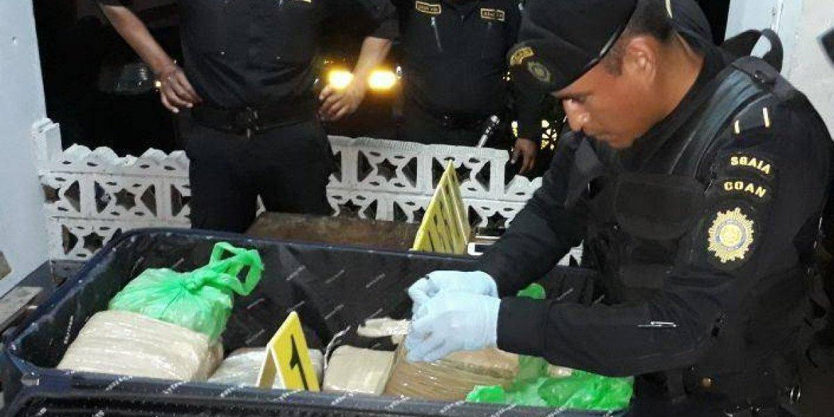 Capturan a hondureños y guatemaltecos señalados de transportar droga