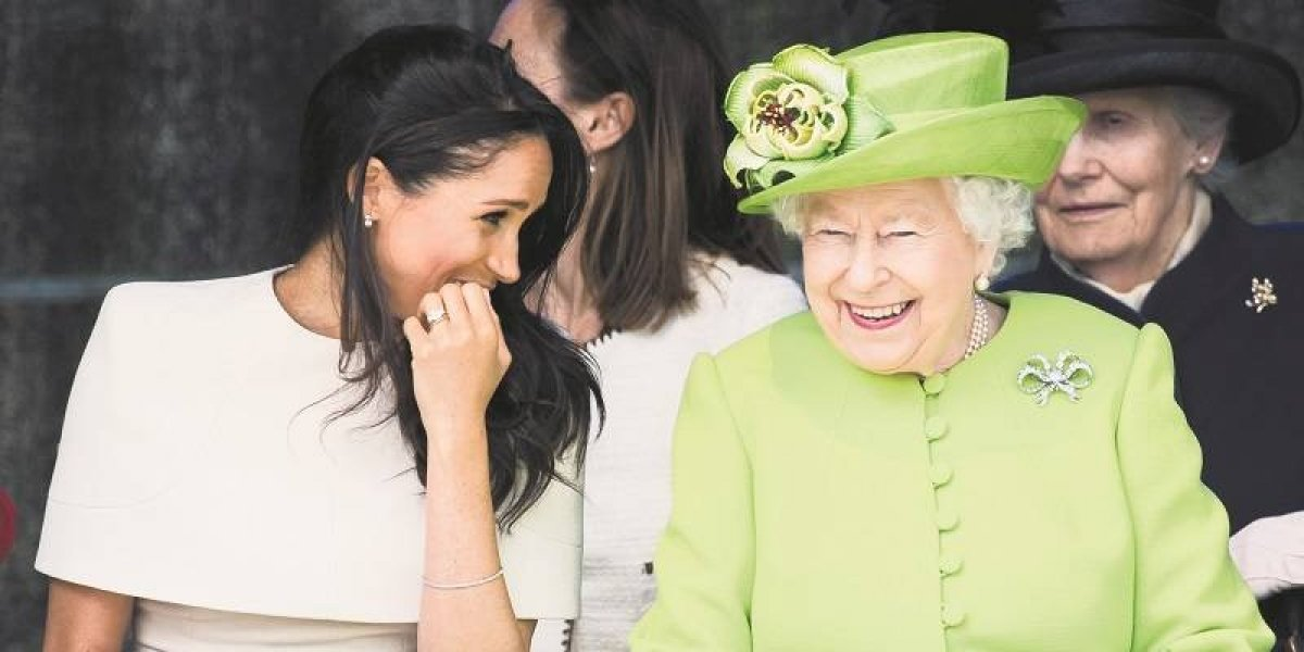 La gran sonrisa que Meghan Markle le sacó a la reina Isabel II