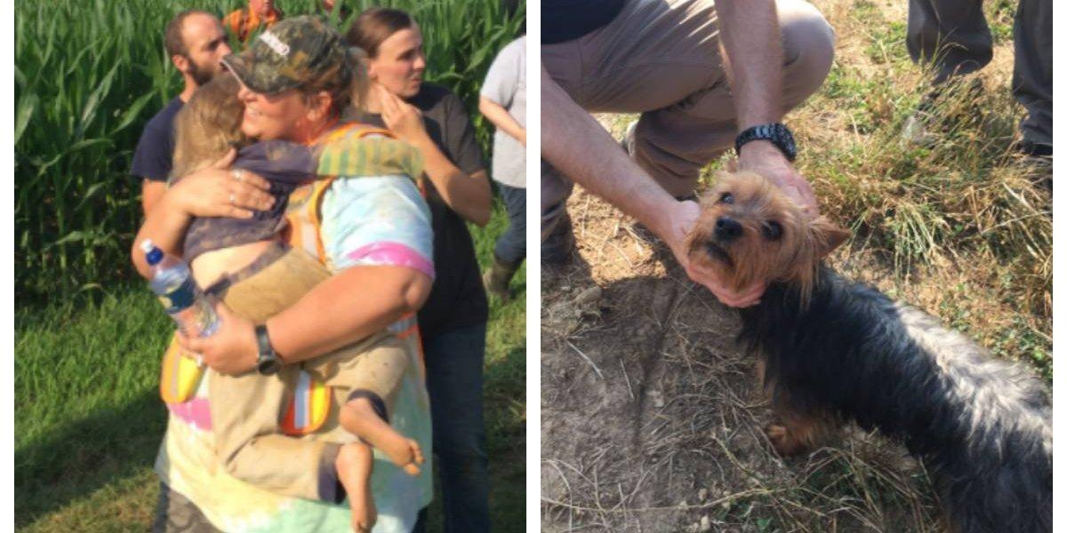 Nena de tres años sobrevivió una noche desaparecida gracias a su perro