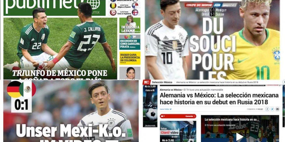 Prensa internacional destaca el triunfo de México sobre Alemania