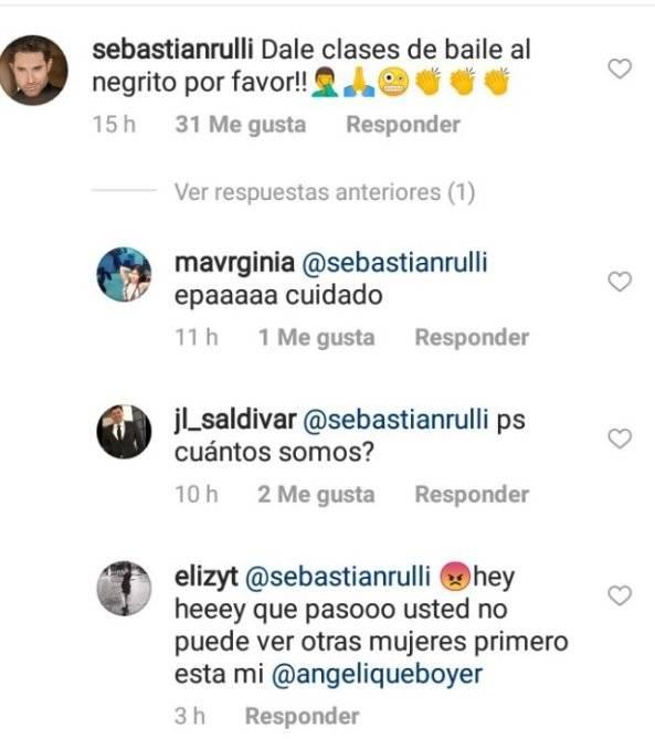 Comentarios contra Sebastian Rulli