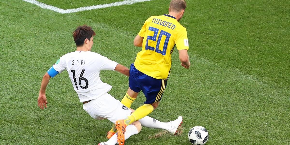 Suecia ganó 1-0 a Corea del Sur gracias al VAR y le complica la vida a Alemania