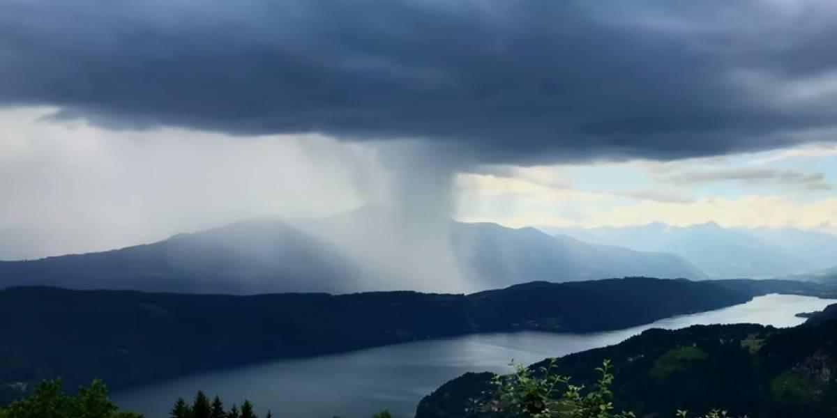 Alpinista grava fenômeno natural impressionante; 'como se um tsunami caísse do céu'