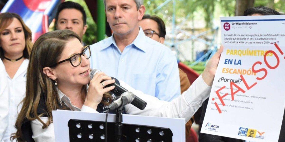 Magui Fisher denuncia campaña sucia de Víctor Hugo Romo en la MH
