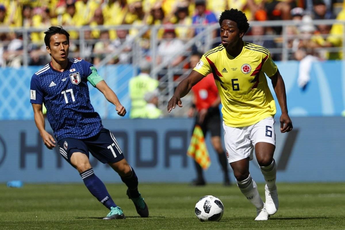 Carlos Sánchez duró solo tres minutos dentro del terreno de juego.