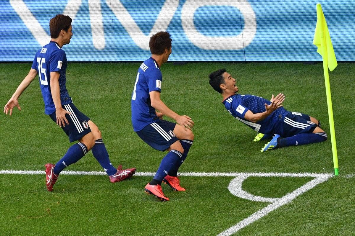 Los japoneses festejaron su primer triunfo ante los colombianos.