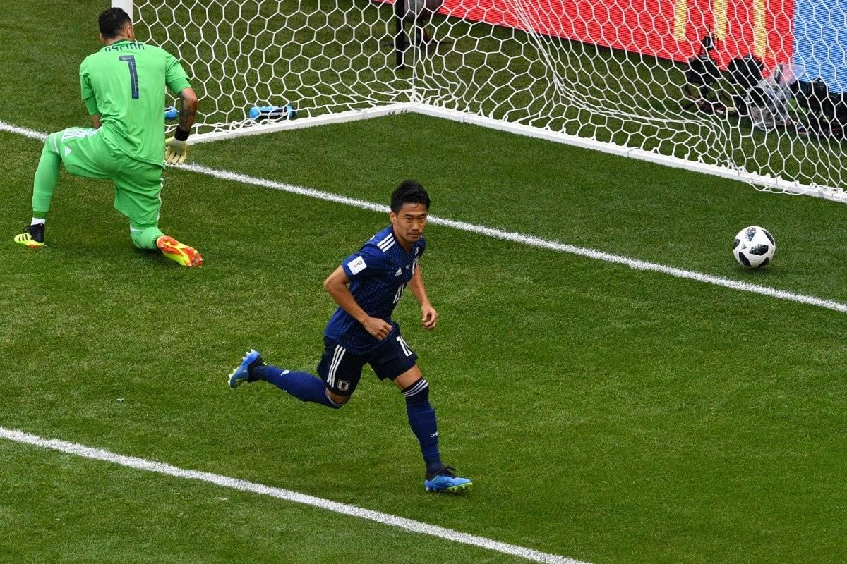 Kagawa abrió el marcador para los japoneses.