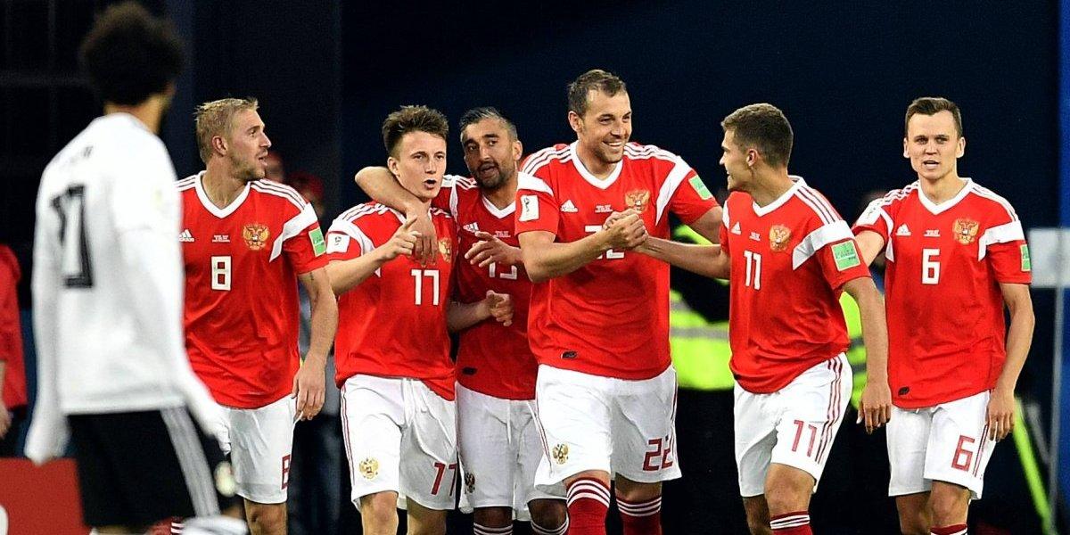 Rusia, el mejor equipo del Mundial: los locales le pegaron en el piso al Egipto de Salah y acarician los octavos