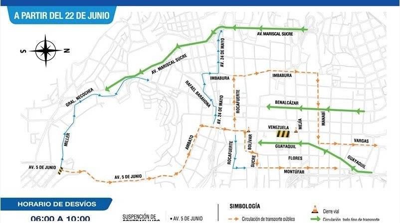 Quito: Se cerrará la calle Venezuela por obras de alcantarillado