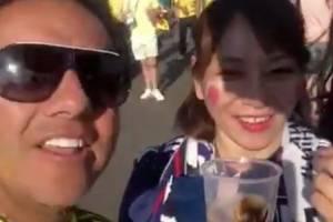 Vídeo ofensivo de hincha colombiano con japonesa en Rusia genera escándalo