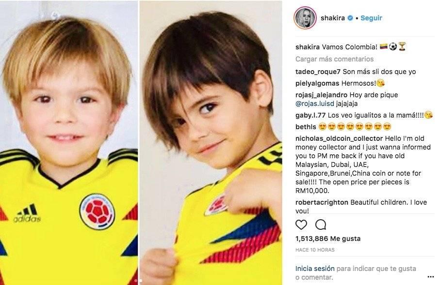 Captura de pantalla Instagram Shakira