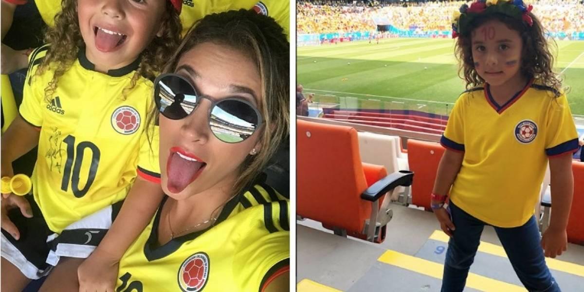 Hija de James y Daniela encontró trabajo en el Mundial de Rusia
