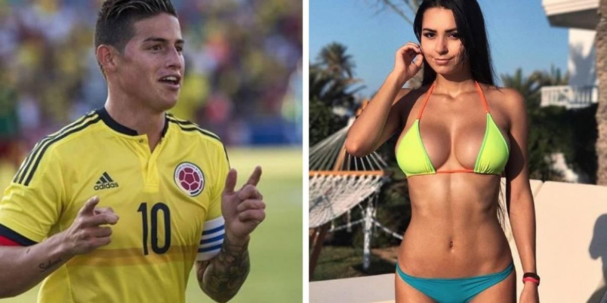 ¡Qué desplante! ¡James Rodríguez le dijo NO a Helga Lovekaty en Rusia!