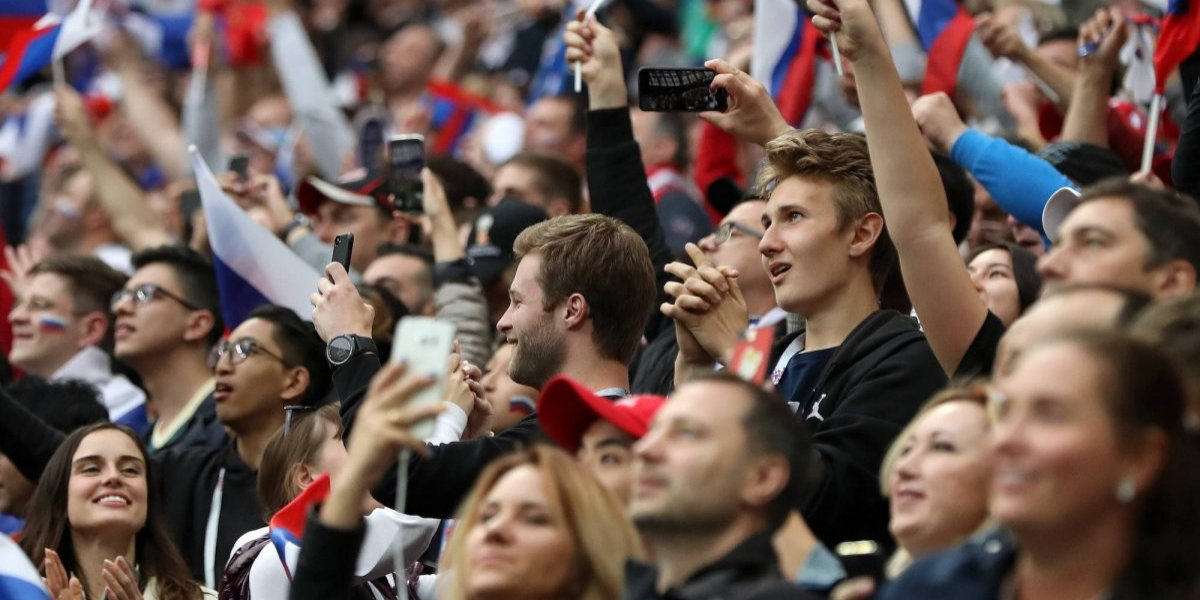 Mujer da a luz en partido de inauguración de Rusia 2018