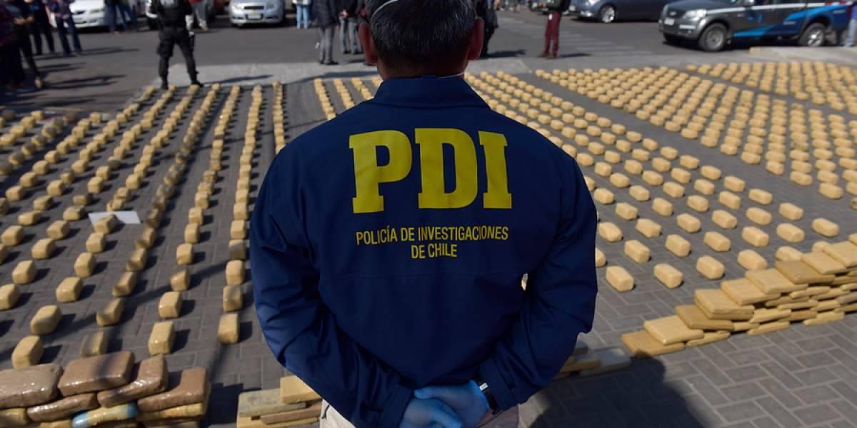 PDI incautó más de $316 mil millones en droga el año pasado: alcanza para pagar 17 sueldos a Alexis Sánchez
