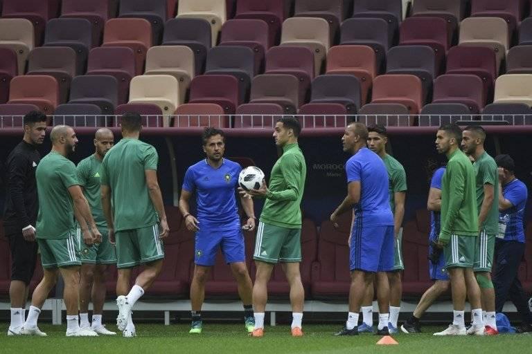 El equipo portugués en el entreno previo al juego ante Marruecos