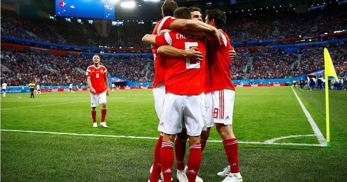seleção da Rússia vence o Egito