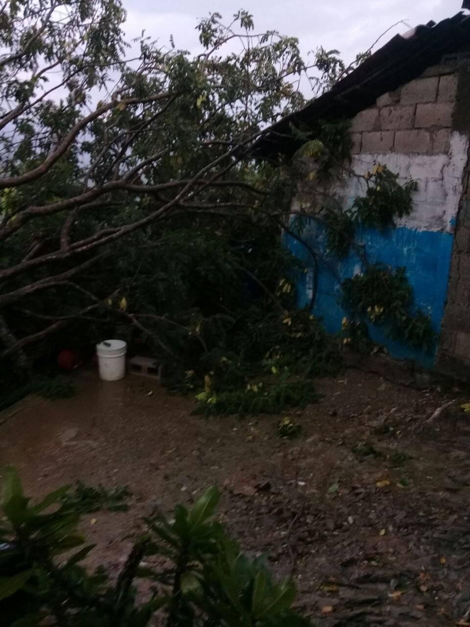 vivienda dañada en Agua Salóbrega, El Progreso