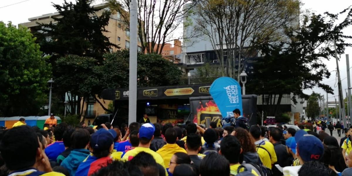 Pantalla del Parque el Virrey no funcionó en pleno partido de Colombia