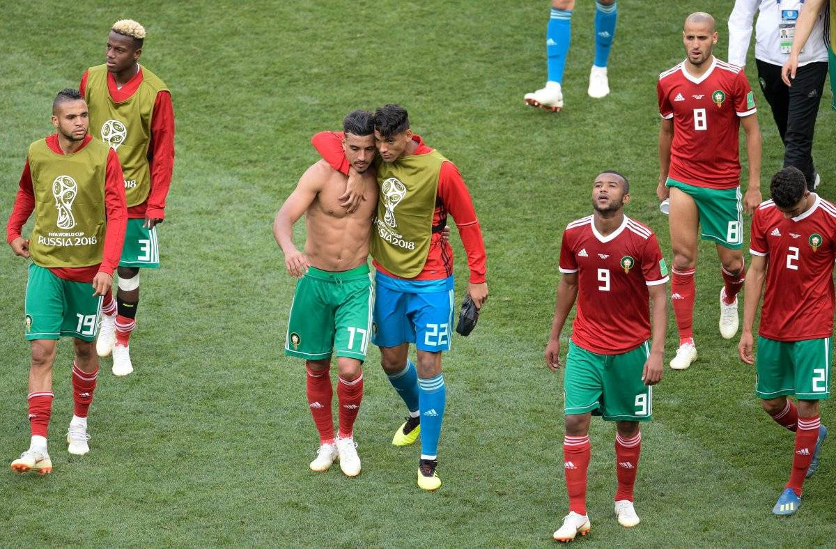 Los marroquíes salieron tristes del terreno de juego.